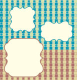 Retro background. Vector illustration of plaid retro background Stock Photography