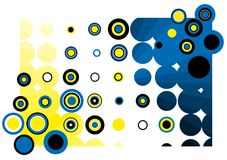 Retro background. Abstract background with blue tones Stock Images