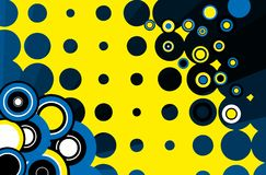 Retro background. Abstract illustration with blue tones in yellow Stock Image