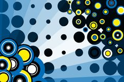 Retro background. Abstract background with blue tones Stock Photo