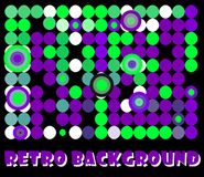 Retro background. Abstract retro background in violet and green tones Royalty Free Stock Photos