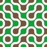 Retro background. Brown, green and white retro background 60s style. Seamless tile Stock Photo
