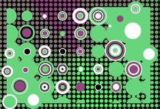 Retro background. Abstract retro background in violet and green tones Stock Photography
