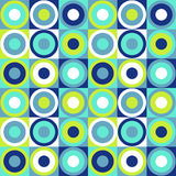 Retro background. Circle background in green and blue royalty free illustration