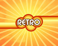 Retro background. Image with text Stock Photography