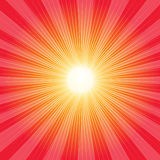 Retro background. Red retro background with rays - vector Stock Photos