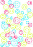 Retro background. With colorful circles Royalty Free Stock Photo