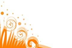 Retro background. The retro background orange, yellow with isolate stock illustration