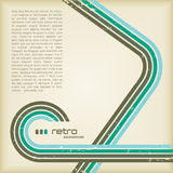 Retro background. Colorful grungy retro-background with linework and copyspace for your text Stock Image
