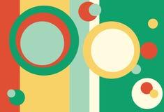 Retro Background. Background of green, aqua, yellow and orange retro design for use in website wallpaper design, presentation, desktop, invitation or brochure stock illustration