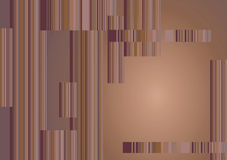 Retro Background. With stripes and gradient brown color royalty free illustration