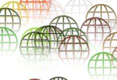 Retro Background. With Flying globe brush Stock Photography