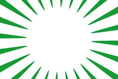 Retro Background. Detail of green rays with clipping path Stock Photo