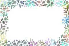 Retro Background. With multiple sized ovals Stock Photography