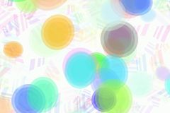 Retro Background. With multiple sized ovals Royalty Free Stock Images