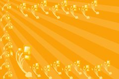 Retro Background. Appear with isolated rays with digital flower pot Royalty Free Stock Images