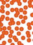 Retro background. Detail of retro basket ball texture background Stock Photography