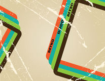 Retro background. With colour stripes Royalty Free Illustration