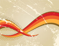 Retro background. With colour stripes Vector Illustration