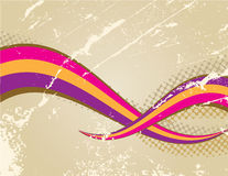 Retro background. With colorful weves Stock Illustration