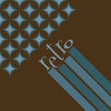 Retro background. Funky retro geometric background in blue and brown Stock Image