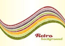 Retro Background. Wavy Colorful Retro Grunge Background Stock Image