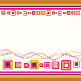 Retro background. Abstract colorfully background in retro style stock illustration