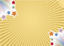 Retro background. With colorful stars and vector rays Royalty Free Stock Photography
