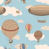 Retro background with aeronautics transport Stock Image