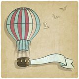 Retro background with aerostat Stock Photography