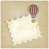 Retro background with air balloon Royalty Free Stock Image