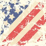 Retro Background with American Flag. Vector illustration Stock Image