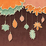 Retro background with autumn leaves Stock Image