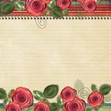 Retro background with beautiful roses for congratu Stock Photography