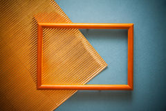 Retro background in blu and golden colors Stock Photos