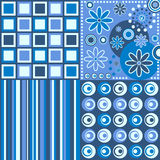 Retro Background [Blue]. Four retro backgrounds in blue tone. Three different versions (pink, blue and warm colors) in my portfolio Stock Photography