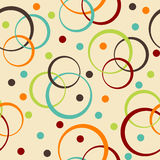 Retro background with circle and dots Royalty Free Stock Images