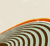 Retro background with circle lines. Grunge radio waves - 60s 70s 80s abstract music design Stock Image