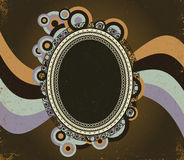 Retro background with circles Royalty Free Stock Photos