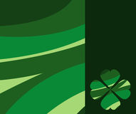 Retro background with clover Royalty Free Stock Image