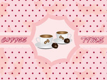 Retro background with coffee Stock Photo