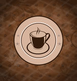 Retro background with coffee mug Stock Photo