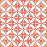 Retro background with colored flowers. Beautiful seamless retro pattern with colored flowers on a beige background Stock Images