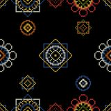 Retro background with cross stitch. Vector illustration. Seamless pattern Stock Photo