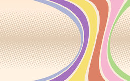 Retro background with curved stripes. Vector illustration Stock Illustration