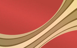 Retro background with curved stripes. Vector illustration Royalty Free Illustration