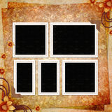 Retro background with decorative frame. In scrap-booking style stock illustration