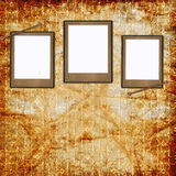 Retro background with decorative frames Stock Photography