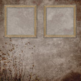 Retro background with decorative frames Royalty Free Stock Photos