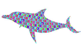Retro background dolphin Stock Photo